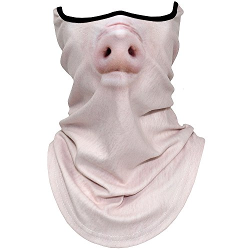 AXBXCX Animal 3D Prints Neck Gaiter Warmer Half Face Mask Scarf Windproof Dust UV Sun Protection for Skiing Snowboarding Snowmobile Halloween Cosplay Pig -