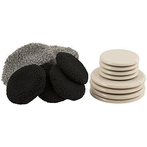 "SuperSliders 4703295Z Multi-Surface 2-in-1 Reusable Furniture Carpet Sliders with Hardwood Socks- Protect & Slide on Any Surface 3-1/2"" & 5"" Value Set (8 Pack)"