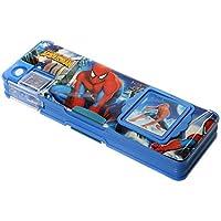 Jiada Multipurpose Pencil Box with calculator & dual sharpner - Spiderman (Color May Vary)