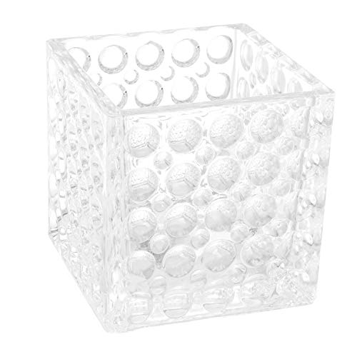 Royal Imports Flower Glass Vase Decorative Centerpiece for Home or Wedding Elegant Dimple Effect Cube, 5