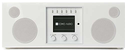 (Como Audio: Duetto - Wireless Music System with Internet Radio, Spotify Connect, Wi-Fi, FM, and Bluetooth - Piano White)