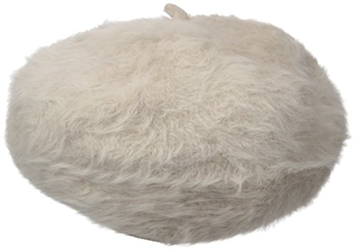 Calvin Klein Women's Solid Angora Beret, Heathered Almond, One Size