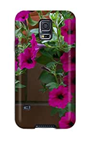 For Galaxy S5 Protector Case Flower Phone Cover