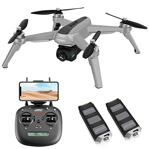 40mins(20+20) Long Flight Time Drone for Adults,JJRC X5 Drone with 2K FHD Camera Live Video, 5G WiFi FPV GPS Return Home Quadcopter with Brushless Motor, Follow Me, Long Control Range (Gray)