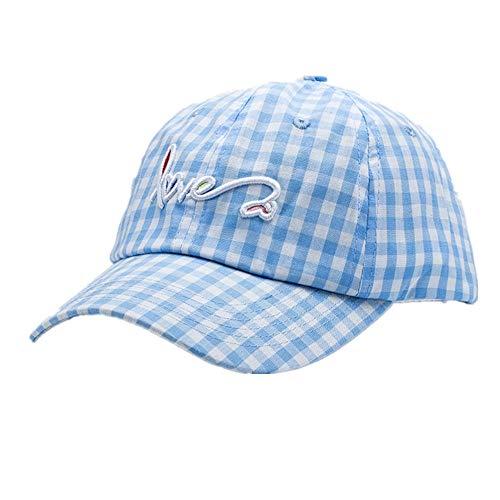 Meaeo Gorra De Béisbol Sombreros De Papá Hombre Mujeres Bone Caps Sombreros Curvados Ajustables para Gorra De Viaje, Azul