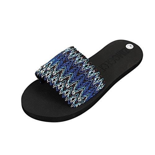 Bleu Sandales Chaussures Occasionnels Cn Femmes Jolie De Plage D'été Rouge Pantoufles Culater® 38 Eu 39 YFT6Eq