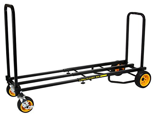 "Rock-N-Roller R14G (Mega Ground Glider) 8-in-1 Folding Multi-Cart/Hand Truck/Dolly/Platform Cart/42"" to 60"" Telescoping Frame/700 lbs. Load Capacity, Black"