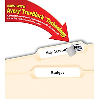 Avery File Folder Labels for Laser and Inkjet Printers, 0.6 x 3.43 Inches