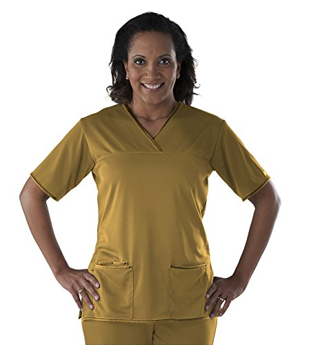Scrub Gold Top (Performance Scrubs Women's Criss Cross Scrub Top)