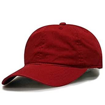 City Hunter C103 Blank Cotton Baseball Caps - Red