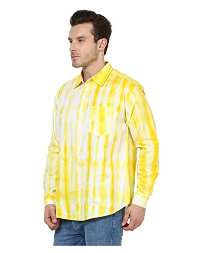 Yepme - Victor Dyed Shirt - Jaune & Blanc