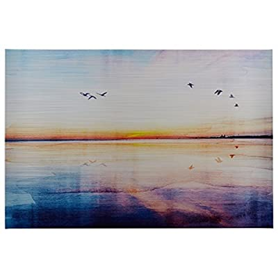 Rivet Seagulls Across The Water Sunset Horizon Canvas Print Wall Art -  - wall-art, living-room-decor, living-room - 41Fo1hq9AFL. SS400  -