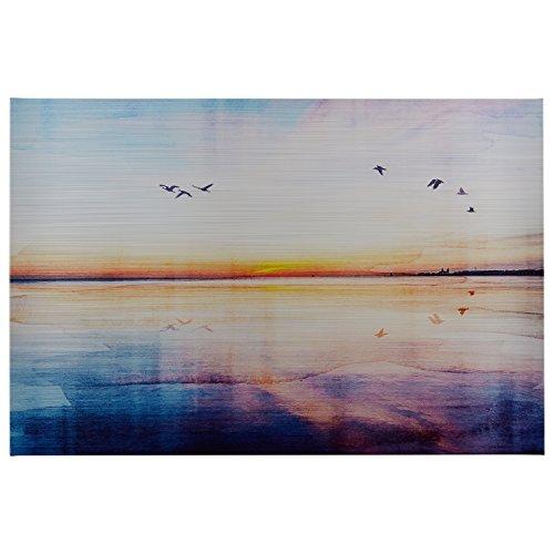 Rivet Seagulls Across The Water Sunset Horizon Canvas Print Wall Art, 45