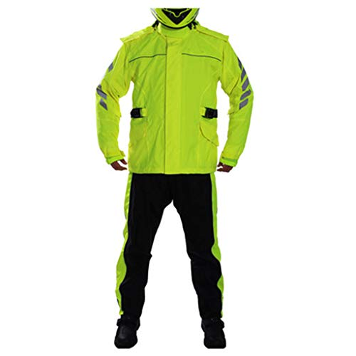 Mackintosh Throw - LIYONG Rain Poncho, Raincoat Riot Water Mackintosh Waterproof Reflective Poncho Foldable (Color : Fluorescent Yellow Suit, Size : M)