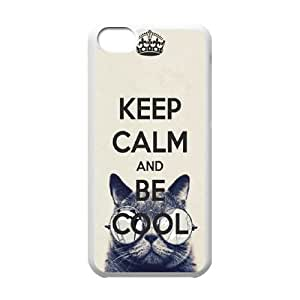 Custom Phone Case Keep Calm and For iPhone 5C NC1Q03282