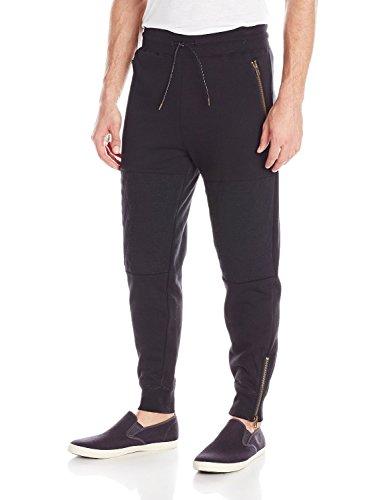 Famous Stars and Straps Men's F Flat Jogger Pants, Black, Medium