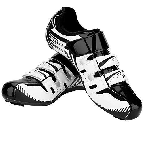 Montaña Carretera Sistema Hombres Alomejor White De 1 Adultos Antideslizante Ciclismo Zapatos Spd Par wpXBwY