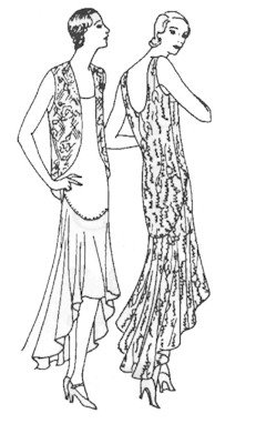 1929 Frock and Jacket (The Roaring 20s Fashion)