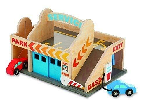 Service Station Parking Garage - Wooden Toy