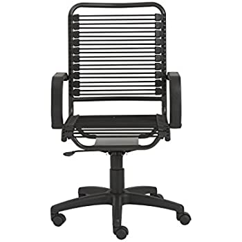 Euro Style Bradley Bungie High Back Adjustable Office Chair With Arms, Black  Bungies With Graphite Black Frame