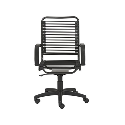 Eurø Style 02548 Bradley Bungie Office Chair, L: 27 W: 23 H: 37.5-43 SH: 17.5-23, Black