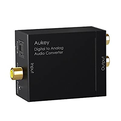AUKEY Audio Converter, Digital Coax or Toslink to Analog Audio adapter for HD DVD, PS3/4, XBox and More