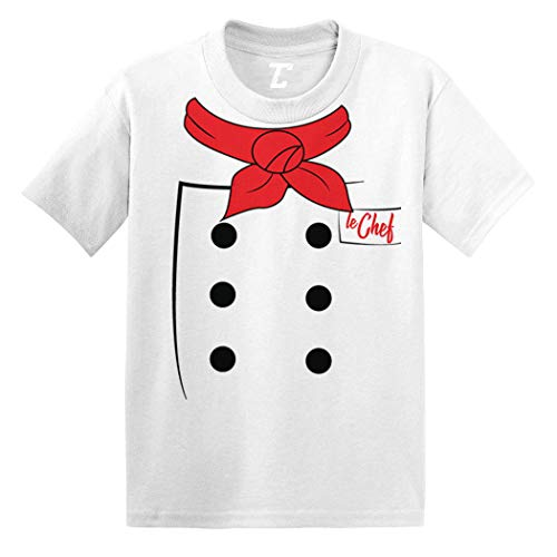 Chef Costume - Cook Bake Prepare Food Infant/Toddler Cotton Jersey T-Shirt (White, 4T) -