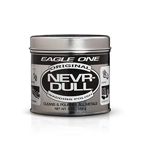 Eagle One Nevr-Dull Wadding Metal Polish, Chrome Restoration, for Wheels and More, 5 Ounce Jar ()