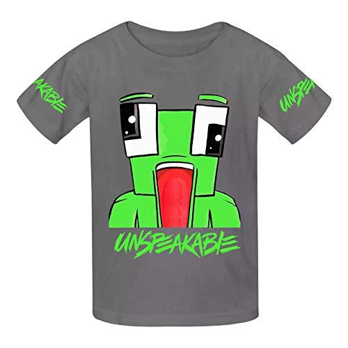 VOPSKJ14 Unspeakable Youth Cotton T-Shirts Unisex Child Short Sleeve Tee  Shirt Gray L