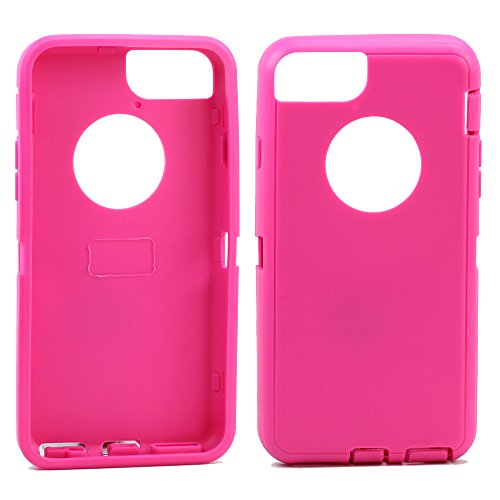 Apple iPhone 6 4.7 inch Replacement Generic Aftermarket TPE Silicone Skin for Otterbox Defender Series Case Cover For Apple iPhone 6 4.7 inch - Hot Pink Outer Skin (Iphone Silicone Rubber Skin Cover)