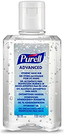 Purell Antibacterial Alcohol Hand Rub Gel Cleanser Sanitiser 100ml Flip Top Bottle (1)