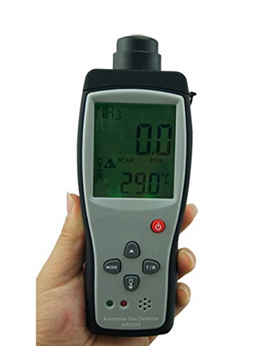 Digital Portable NH3 Meter Ammonia Gas Detector with LCD Backlight Rechargeable Battery,Measuring Range 0-100PPM