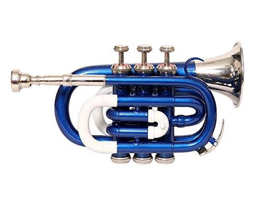 Nasir Ali Ptr-10 Pocket Trumpet B-Flat BLUE + WHITE