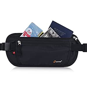 Dorras Money Belt, Travel Wallet Passport Holder with RFID Blocking Hidden - Fanny Pack & Waist Pack