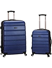 Luggage 20 Inch 28 Inch 2 Piece Expandable Spinner Set, Blue, One Size