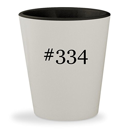 #334 - Hashtag White Outer & Black Inner Ceramic 1.5oz Shot Glass
