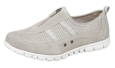 Boulevard - Zapatillas de Material Sintético para mujer Gris gris 36 37 38 39 40 41 42 EU, color Gris, talla 38.5