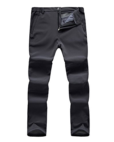 Jessie Kidden Men's Outdoor Windproof Waterproof Hiking Mountain Ski Pants, Soft Shell Fleece Lined...