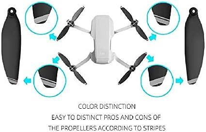 Penivo Mavic Mini Blades,4 Pairs Set Quick-Release Replacement Propellers Compatible with DJI Mavic Mini Drone Colorful Props Accessories Black Sliver