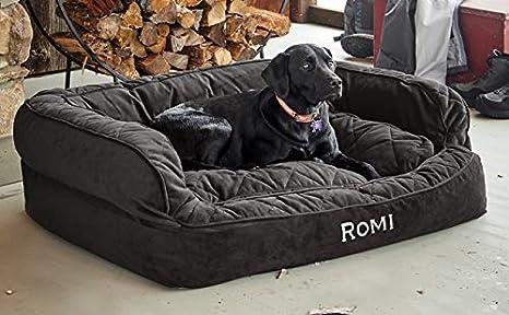 Amazon.com: Orvis comfortfill sofá cama para perro/Mediano ...