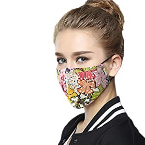 Mask On The Mouth Anti dust Mouth mask Activated Carbon Filter Mouth-Muffle Mask (One Mask + 2 Filters) Anti PM2.5 Fabric Face Mask