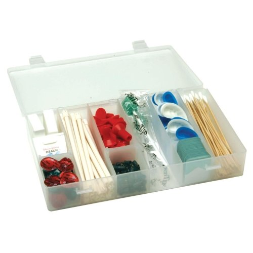 Unimed Solvent-Resistant Infinite Divider Storage Box, 6-12 Compartments, 1 3/4