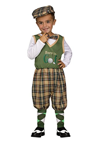 [Lil Golfer Toddler Costume, 3T-4T] (Baby Golfer Costume)