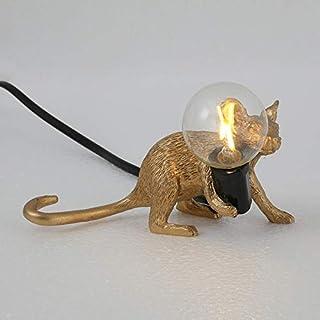 Modern Table Light Mouse Shape Resin Desk Light Bedside Lamp Light for Living Room, Bedroom, Office, College Dorm