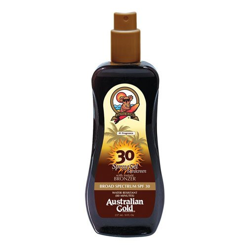 Australian Gold SPF 30 Spray Gel Sunscreen with Instant Bron