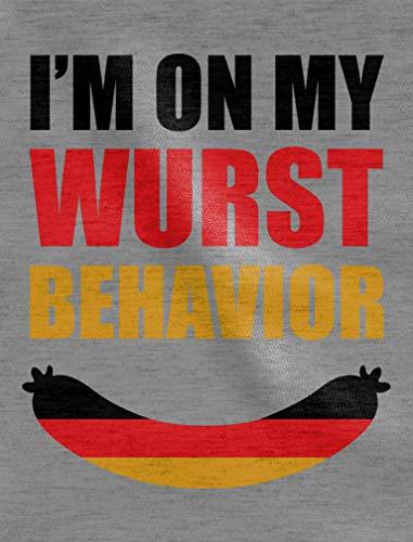 Behavior Grigio I'm Wurst Lunga Manica Uomo My Diventente On Maglia Costume qvZ7t