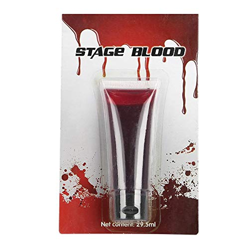 Fake Blood, Stage Blood Halloween Fancy Wound Zombie Make Up Tool Create Frightfully Fun Makeup Looks ()