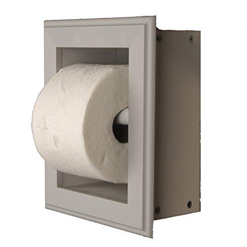 WG Wood Products Solid Wood Recessed wall Bathroom Toilet Paper Holder in Multiple Finishes, Primed/Ready To Paint by WG Wood Products