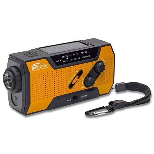 [해외]FIELDOOR 방재 멀티 라디오 【 오렌지 】 생활 방수 충전 3WAY 다기능 1 개의 5 아직 라디오 AM FM 손전등 독서 램프 모바일 배터리 SOS 경보 / FIELDOOR Disaster Prevention Multi Radio [Orang