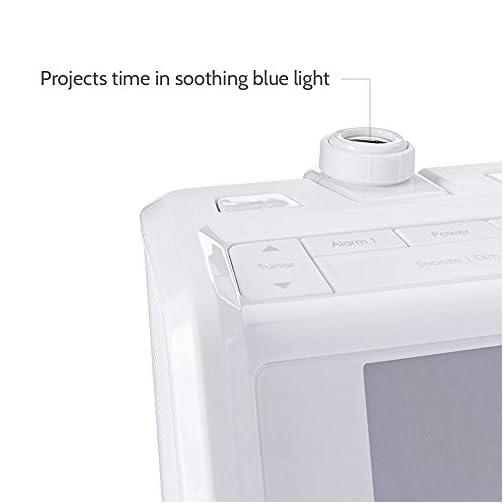 HoMedics SoundSpa Dual Alarm Digital FM Clock Radio | Time Projection , 8 Relaxing Nature Sounds , LED Display , Multi…